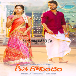 Geetha Govindham songs download 2018 telugu movie vijay devarakonda rashmika mandanna geetha govindam movie album cd cover 2018 telugu movie wallpapers
