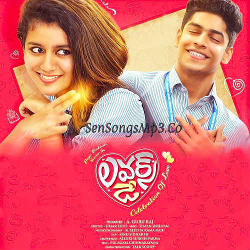 Lovers Day 2019 telugu movie songs priya prakash varrie lip lock cean